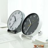 創意靜音座鐘台鐘簡約擺鐘桌面時鐘客廳擺件台式鐘表8英寸小掛鐘 MKS免運