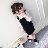 童裝女童背帶裙春裝2019新款韓版小女孩裙子吊帶裙兒童連身裙『櫻花小屋』