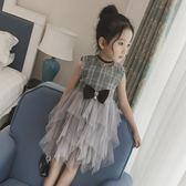 洋裝 女童連衣裙童裝小女孩夏季格子蛋糕紗裙公主裙背心裙兒童夏裝裙子【感謝祭快速出貨八折】