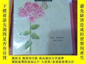 二手書博民逛書店原版英文外文賀卡】happy罕見birthday with lo