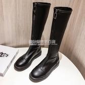 膝上靴 膝上靴女2020年秋冬新款中筒騎士馬丁靴小個子高筒長筒顯瘦加絨 設計師生活百貨