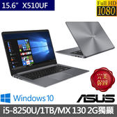 ASUS 華碩 X510UF-0063B8250U 冰河灰 特士版 240G SSD+1TB