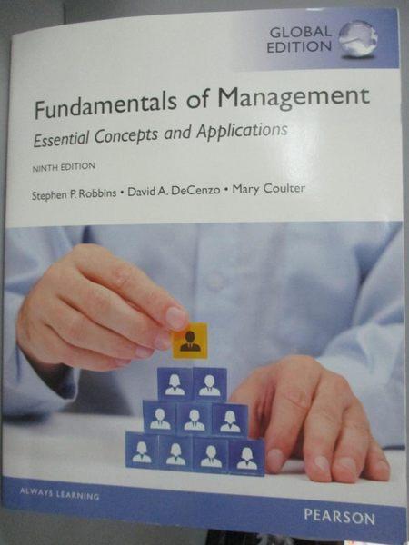 【書寶二手書T4/大學商學_WDJ】Fundamentals of Management_Robbins