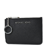 美國正品 MICHAEL KORS 銀字防刮皮革證件/鑰匙零錢包-黑色 【現貨】