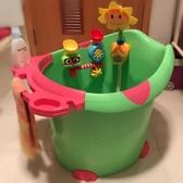 寶寶沐浴桶兒童洗澡桶加厚塑料可坐保溫大號嬰兒小孩沐浴盆泡澡桶 超值價