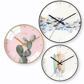 限定款挂钟北歐鐘表掛鐘客廳家用現代簡約大氣創意個性藝術靜音餐廳裝飾時鐘