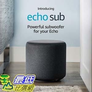 [7美國直購] Amazon Echo Sub 喇叭揚聲器 Powerful subwoofer 需搭配 Amazon Echo / Echo Plus