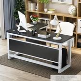 簡約現代鋼木轉角桌墻角桌家用台式電腦桌拐角辦公桌L型書桌  夏季新品 YTL