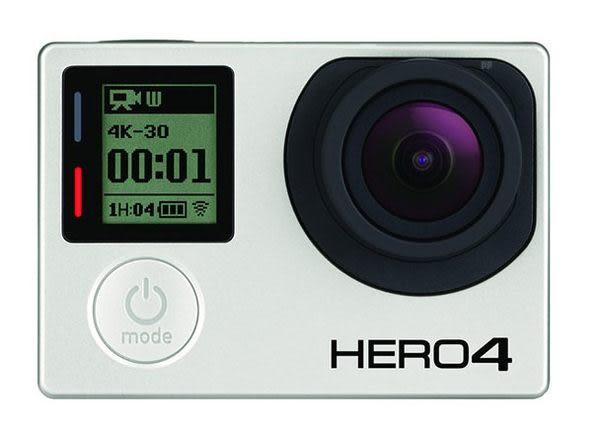 高雄 三晰 晶虹 24期0利率 GoPro HERO4 專業觸控螢幕銀色版 公司貨 運動型攝影機 第四代