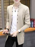 秋季薄款男士外套潮流修身型針織衫衣服