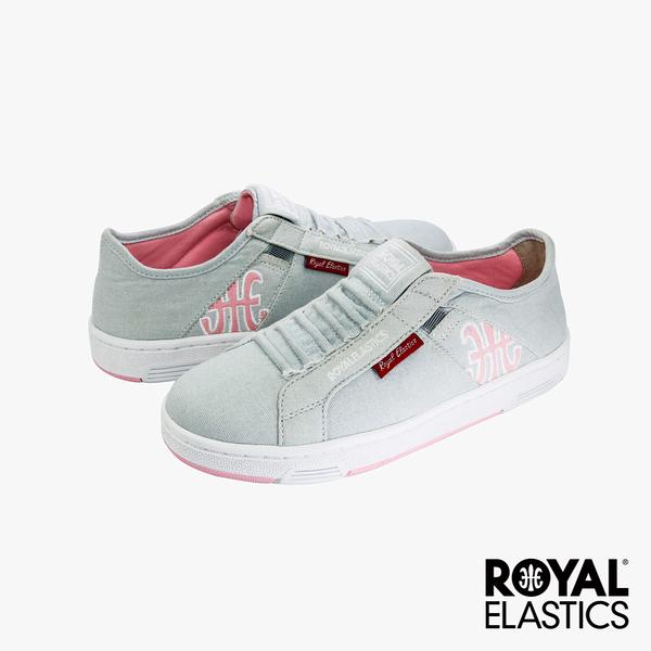 Royal Elastics Icon Washed 經典運動鞋-淺灰x粉紅