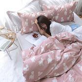 預購-文青風精梳棉單人床包被套組-綿羊夢