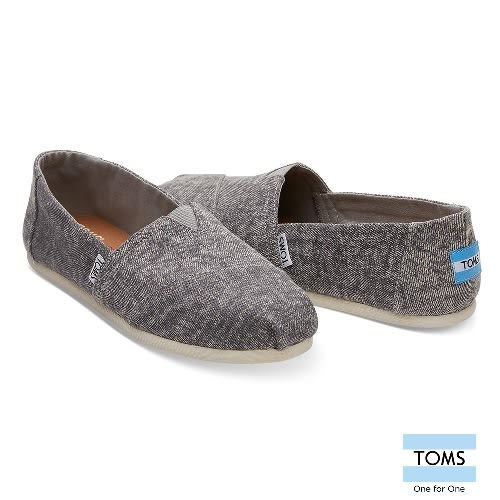 TOMS 經典水洗帆布休閒鞋-女款(10010791 GREY)