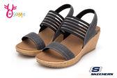 Skechers BEVERLEE 成人女款 涼鞋 清涼夏日 軟木中底 休閒涼鞋 R8256#灰色◆OSOME奧森鞋業