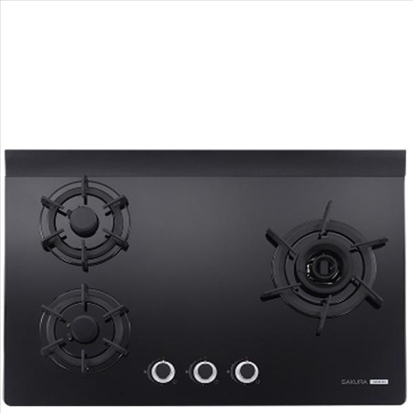 (無安裝)櫻花【G-2932AGBN-X】三口檯面爐黑色(與G-2932AGB同款)瓦斯爐天然氣