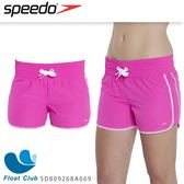 【SPEEDO】女人休閒海灘褲12吋 Classic Leisure (粉紅/白)  SD809268A069