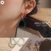 耳環 Space Picnic|正韓-壓克力造型撞色透明耳針(現貨)【K20055023】