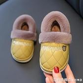 冬季兒童棉鞋2-8歲男童女童PU防水卡通可愛加絨保暖毛毛鞋棉拖鞋1 美眉新品