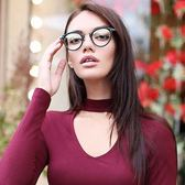 OLIVER PEOPLES 光學眼鏡 CORDING 1592 (黑-金) 簡約微貓眼款 # 金橘眼鏡