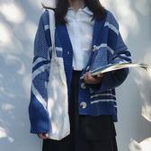 2018秋季新款復古慵懶風針織衫 開衫女時尚百搭寬鬆長袖毛線外套 挪威森林