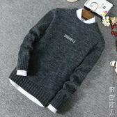 新款冬季毛衣男韓版潮流個性圓領線衣修身型百搭毛衫學生寬鬆針織衫男 街頭潮人