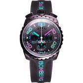 BOMBERG 炸彈錶 BOLT-68 童趣馬卡龍計時手錶-可可/45mm BS45CHPBR.049-3.3