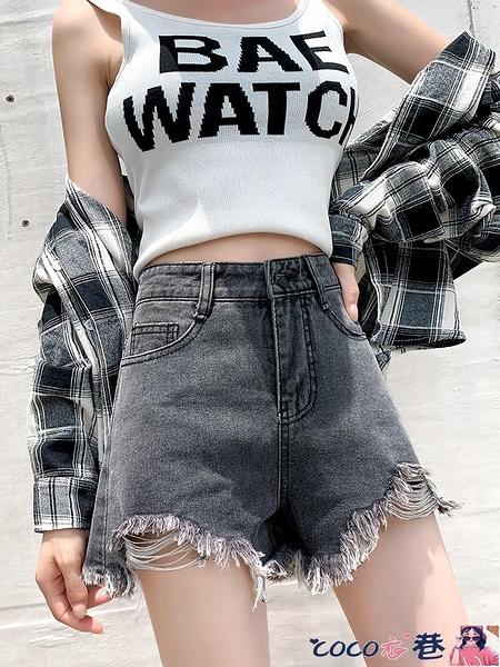 熱賣牛仔短褲 2021年夏季新款牛仔短褲女高腰顯瘦大碼寬鬆百搭闊腿a字熱褲潮【618 狂歡】