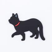 Pets磁鐵掛勾-黑貓-生活工場