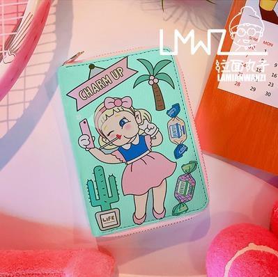 雙11手拿包拉面丸子新款錢包拉鍊卡通日韓女孩小清新少女手拿包女式錢包卡包