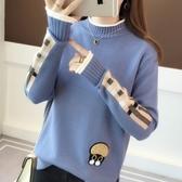 半高領毛衣女士秋冬保暖毛衣 針織上衣寬鬆套頭短款內搭打底衫