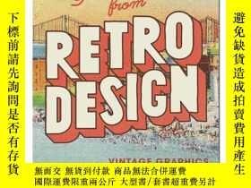 二手書博民逛書店【T&H】Greetings罕見from Retro Design 來自復古設計的問候:復古圖案Y302154