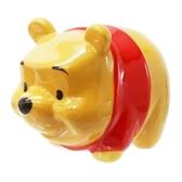 小禮堂 迪士尼 小熊維尼 迷你造型陶瓷存錢筒《黃》擺飾.撲滿.儲金筒4979274-15286