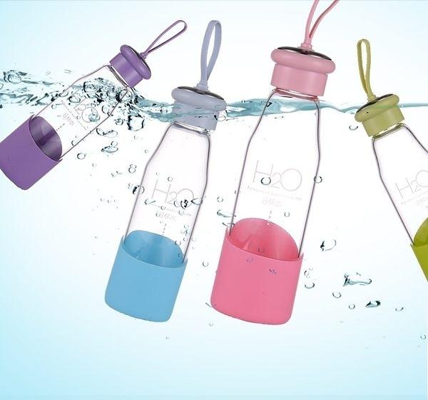 水杯   高硼硅八杯水玻璃旅行瓶 550ml隨行杯  【KCG015】-收納女王