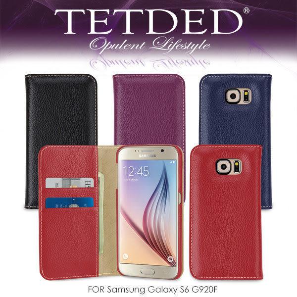 ☆愛思摩比☆ TETDED 法國精品 Samsung Galaxy S6 G920F Gerzat II 側翻可插卡皮套