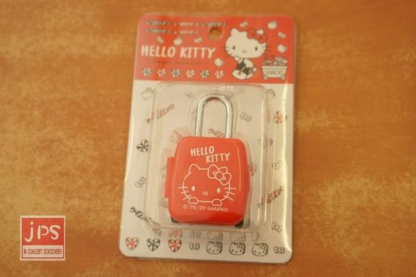 Hello Kitty 凱蒂貓 行李箱型密碼鎖 紅 957984