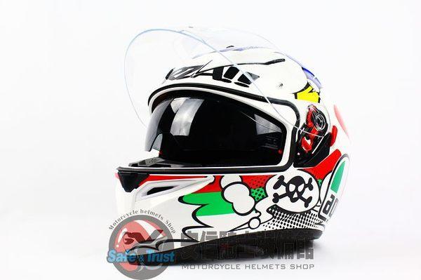 [中壢安信]義大利 AGV K-3 SV K3 SV COMIC 全罩 安全帽 送涼感頭套