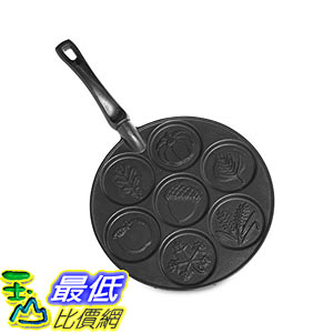 [8美國直購] 煎餅鍋 Nordic Ware Autumn Leaves Pancake Pan, Black B013ZHHQ7O