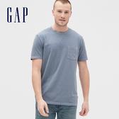 Gap男裝復古水洗圓領短袖T恤440773-石灰色