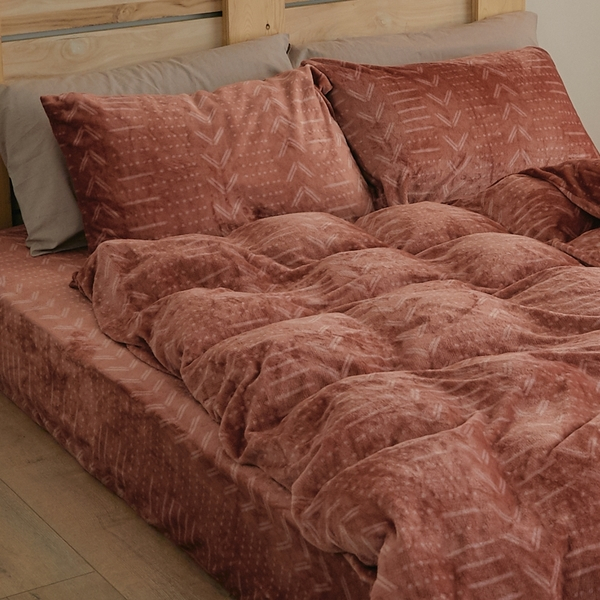 法蘭絨兩用被套床包組 加大【Pumpkin】台灣製 法蘭絨 床包 翔仔居家