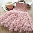2020夏季女童禮服裙洋氣蓬蓬紗公主裙透氣超仙中大童裝兒童連衣裙