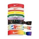Nike 髮帶 Ponytail Holder 9-Pack 彩 白 男女款 頭帶 Pride 運動休閒 【ACS】 N000353795-0OS