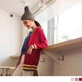 《FA2022》親膚系列.學院風開襟長版包芯紗針織外套 OrangeBear