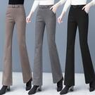 毛呢闊腿褲女加厚2020秋冬季新款高腰寬鬆直筒顯瘦加絨微喇叭褲子 向日葵生活館