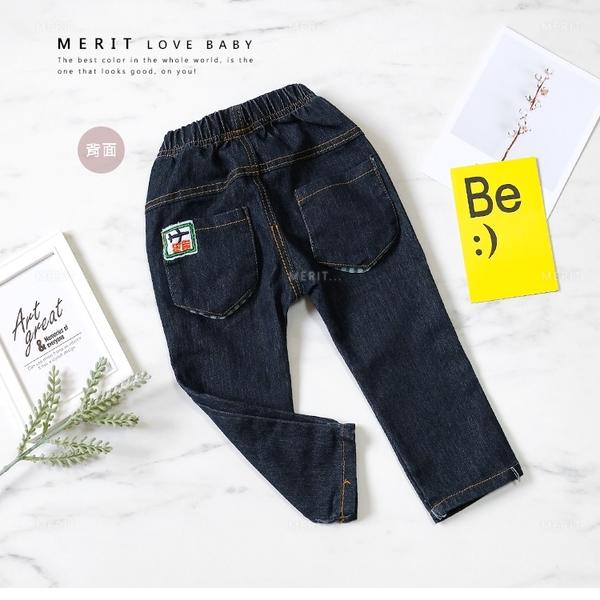 立體飛機繡圖綠條紋後口袋牛仔褲 丹寧 牛仔 繡圖 可愛 男童裝 男童長褲 男童牛仔褲