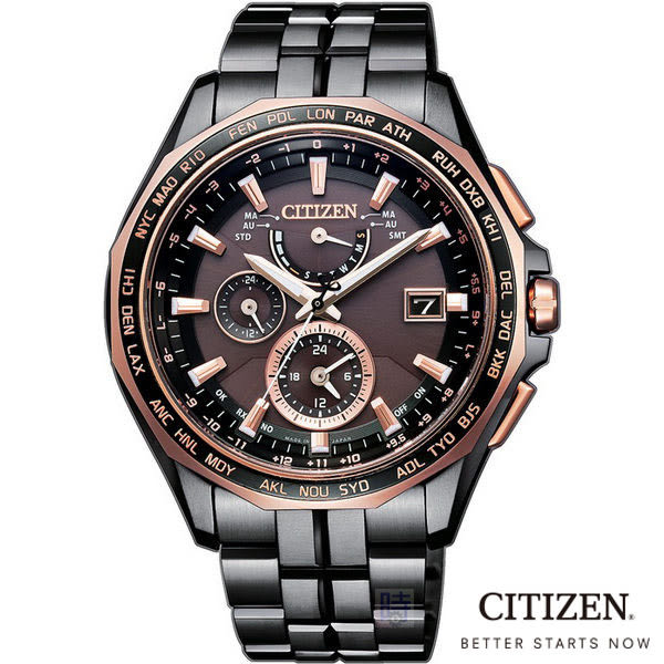 CITIZEN 星辰(AT9096-73E) 光動能 電波 防水 鈦金屬 男錶/42.7mm