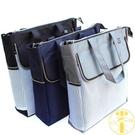 大容量手提文件袋 A4拉鏈袋 防水帆布收...