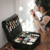 限定款化妝包 化妝包大容量多功能簡約便攜網紅旅行化妝箱專業手提化妝師跟妝包jj
