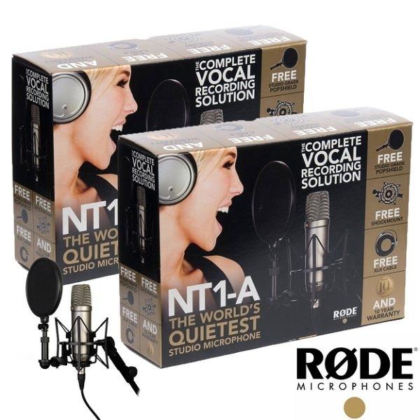 羅德 RODE NT1-A Matched Pair 電容式麥克風*2組 (NT1-AMP)   【正成公司貨】no14