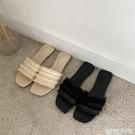 chicli 好看涼拖女夏韓國流蘇草編織平底毛線涼拖鞋女外穿涼拖鞋 設計師生活
