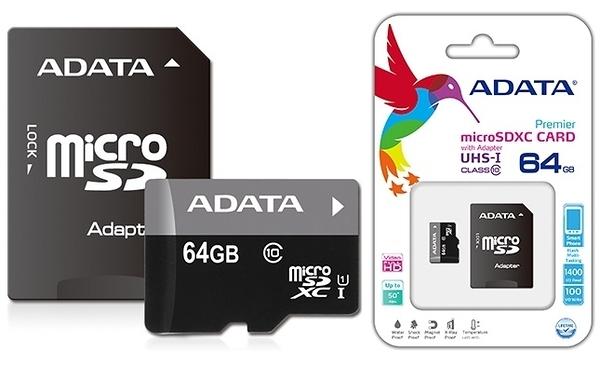 【福笙】威剛 ADATA Premier micro SDHC/SDXC UHS-I Class10 64GB 終身保固